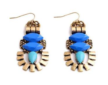 Blue Totem Earrings