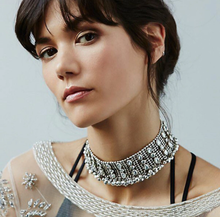 Load image into Gallery viewer, Bohemian Tassel Crystal Choker
