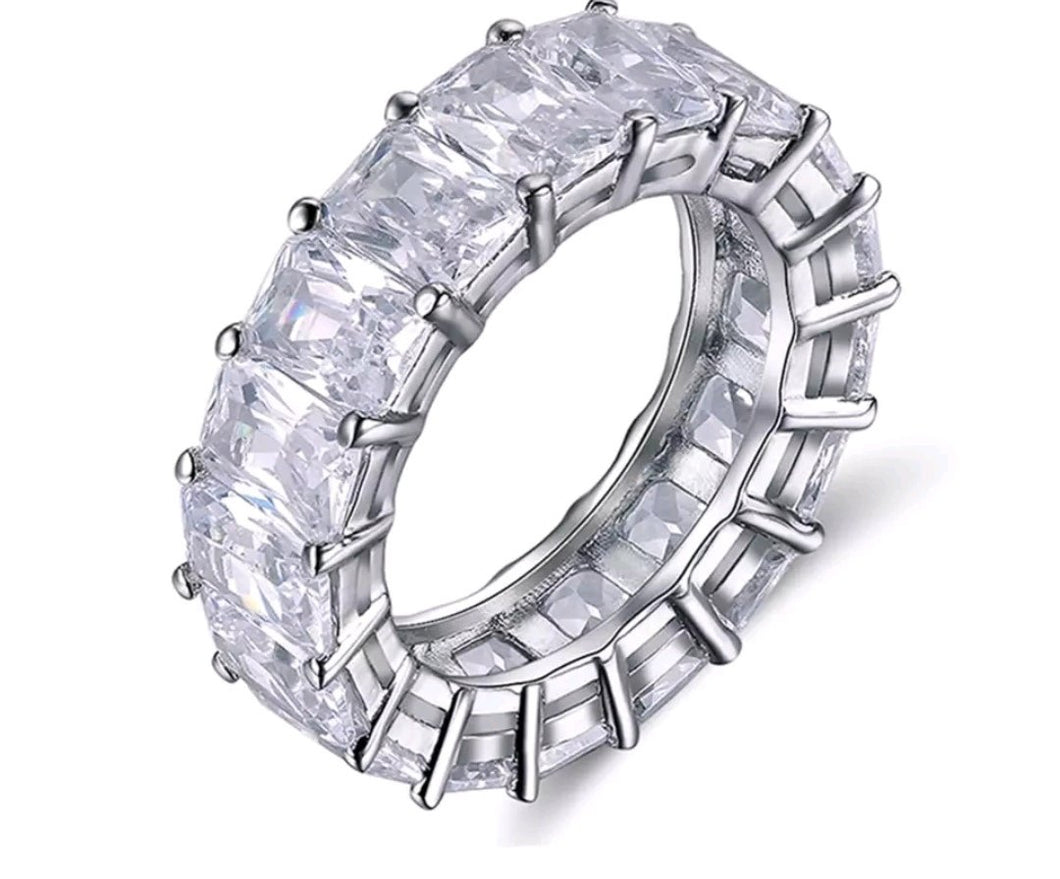 Asscher Crystal ring