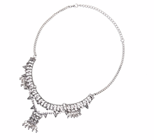 Load image into Gallery viewer, Bohemian Silver Bells Necklace
