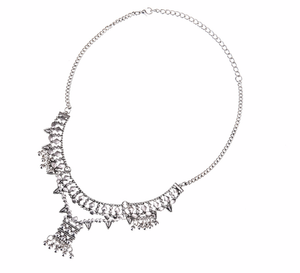 Bohemian Silver Bells Necklace