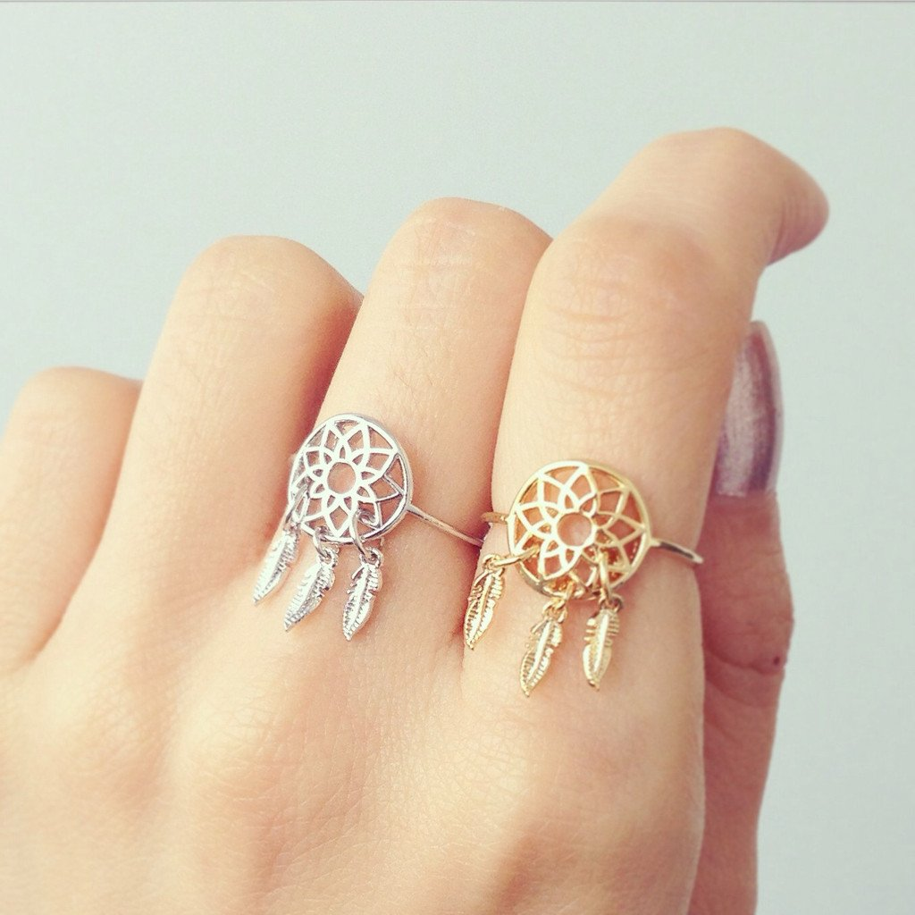Dream Catcher Gold Ring