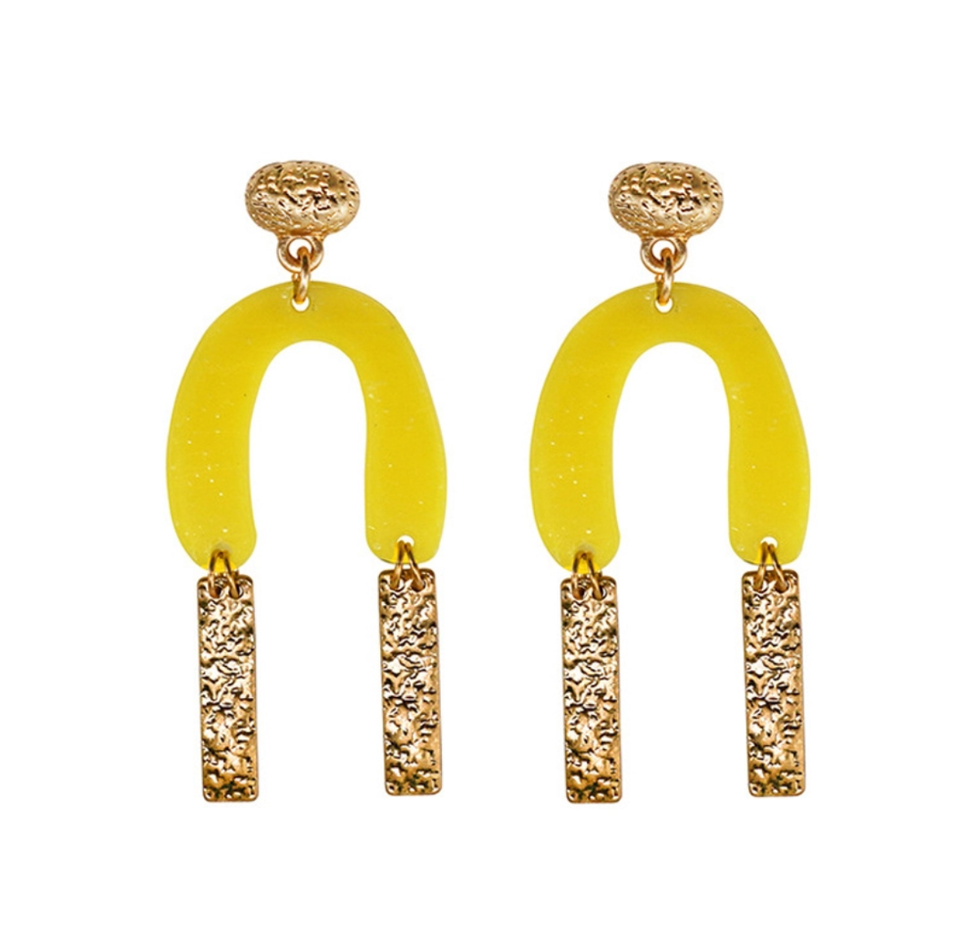 Gold X Yellow Casso Earrings