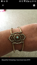Load image into Gallery viewer, Crystal X Turquoise Bangle