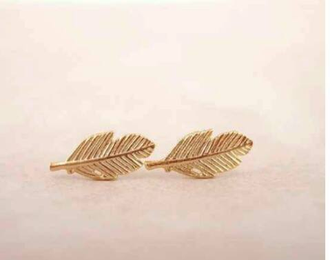 Mini Gold Feather