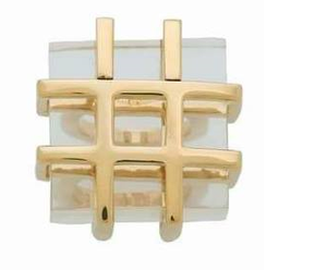 Cubic Cage Transparent Ring