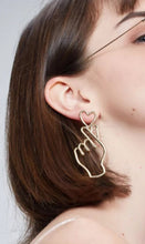 Load image into Gallery viewer, Hand x Heart earrings