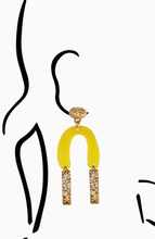 Load image into Gallery viewer, Gold X Yellow Casso Earrings