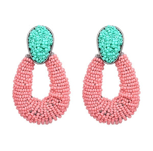 Bicolor Beads Earrings