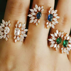Double Flowers rings