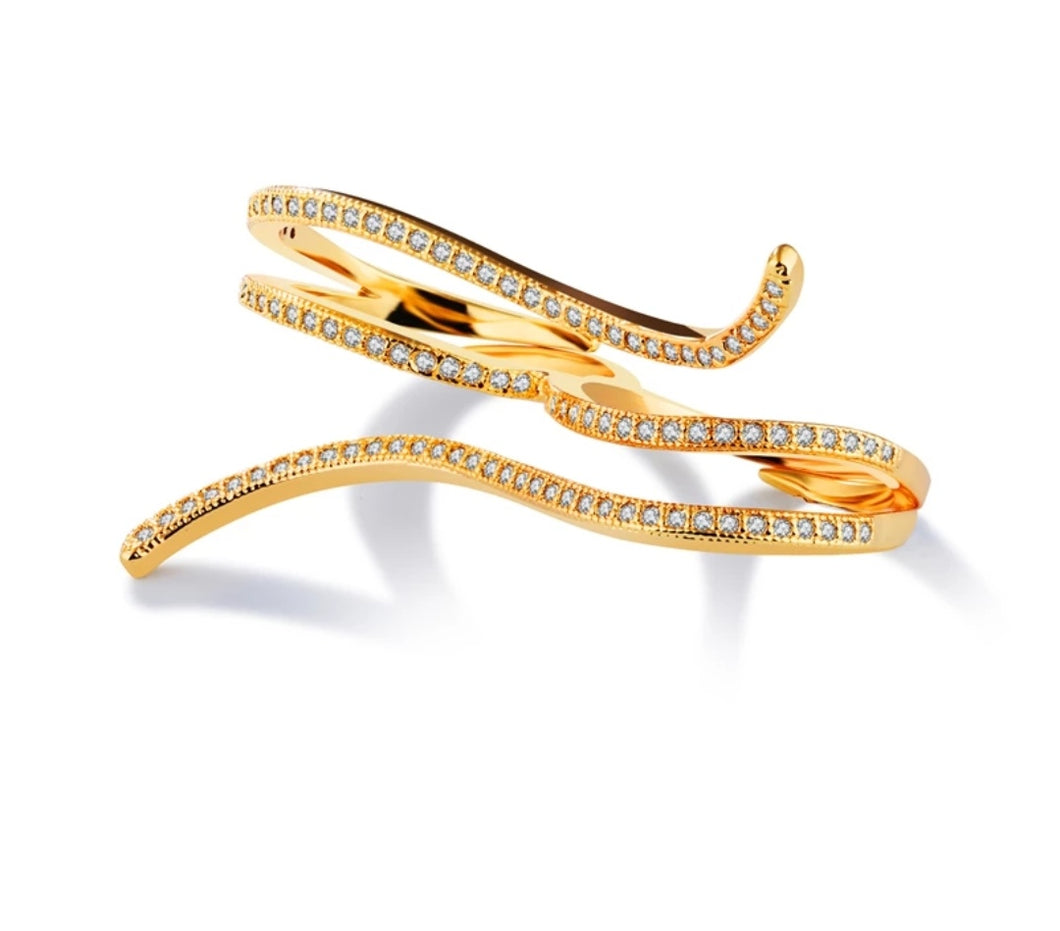 Snake Double Finger Ring