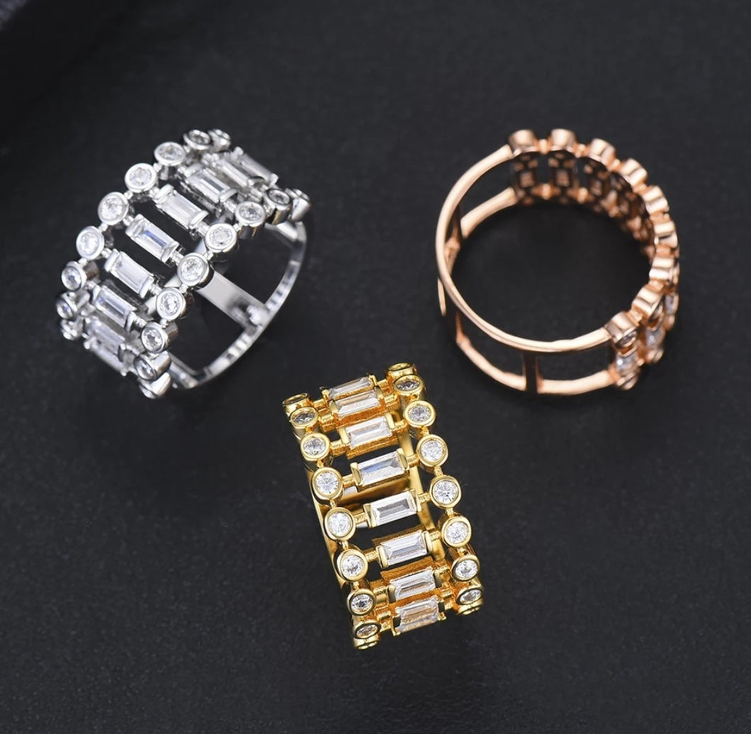 Stackable Crystal Ring
