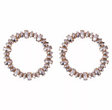 Load image into Gallery viewer, Crystal Pieces Hoops Earrings