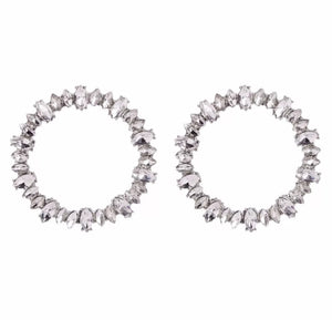 Crystal Pieces Hoops Earrings