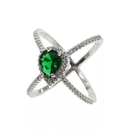 Green Button Ring
