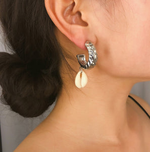 Hoops Cowries Drop Earrings
