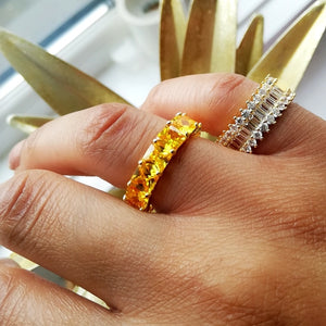 Yellow Ombre Ring