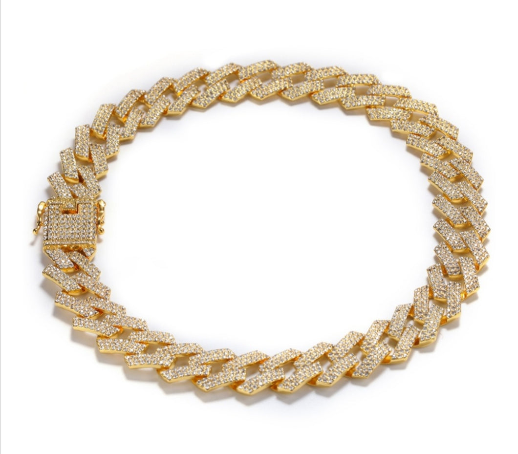 Square Cuban Link Necklace