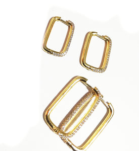 Square golden Earrings