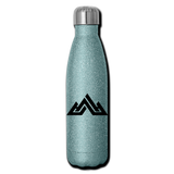 Insulated Stainless Steel Water Bottle - turquoise glitter