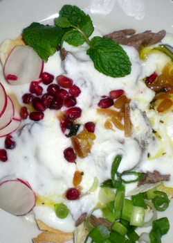 Radish Yogurt with Pine Nuts