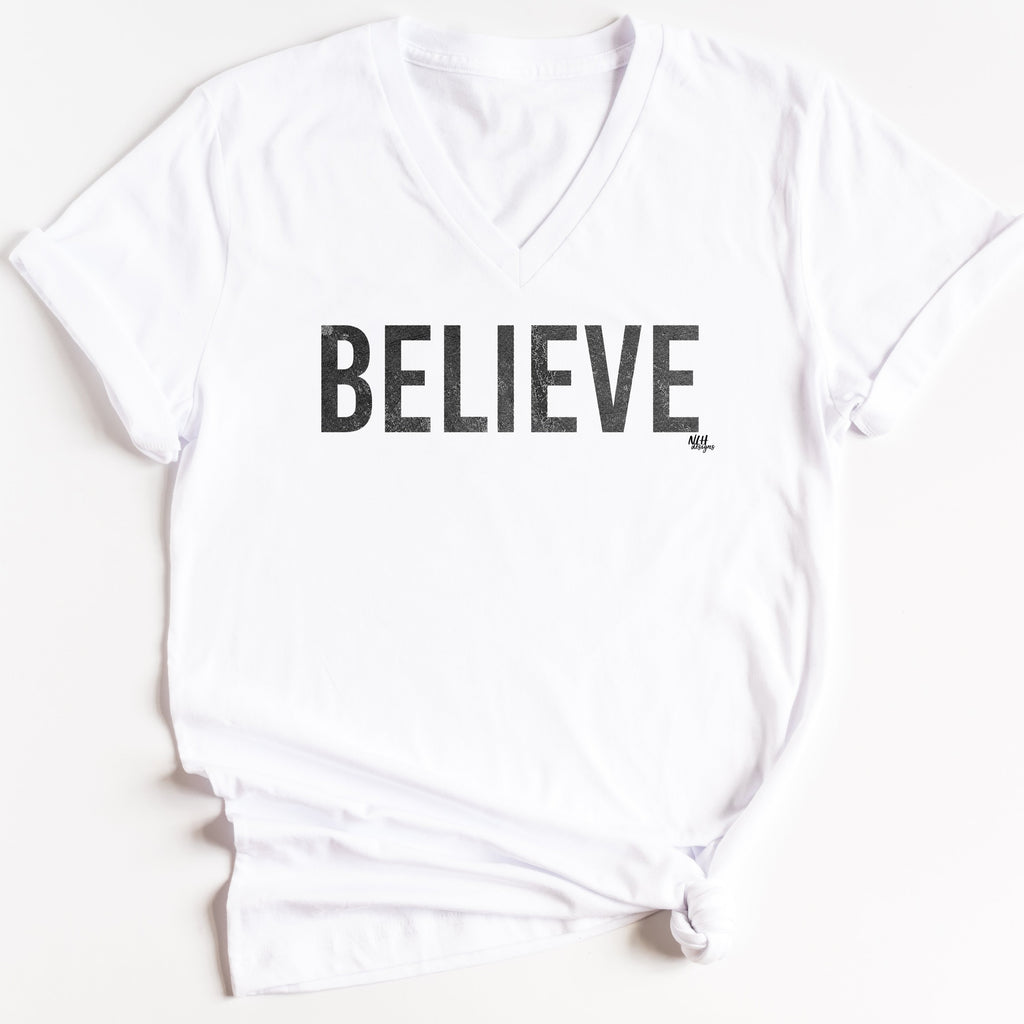 BELIEVE Short Sleeve T-Shirt - White