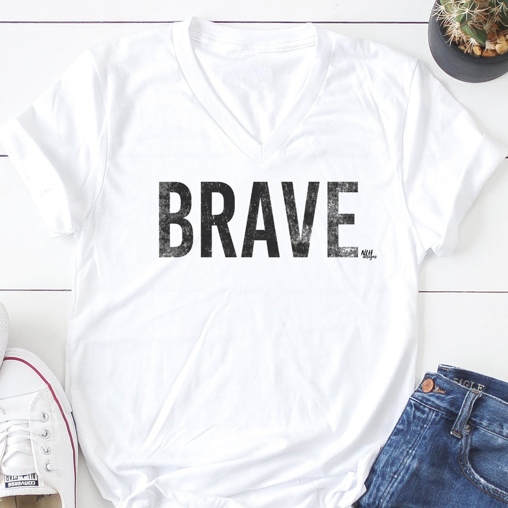 BRAVE Short Sleeve T-Shirt - White