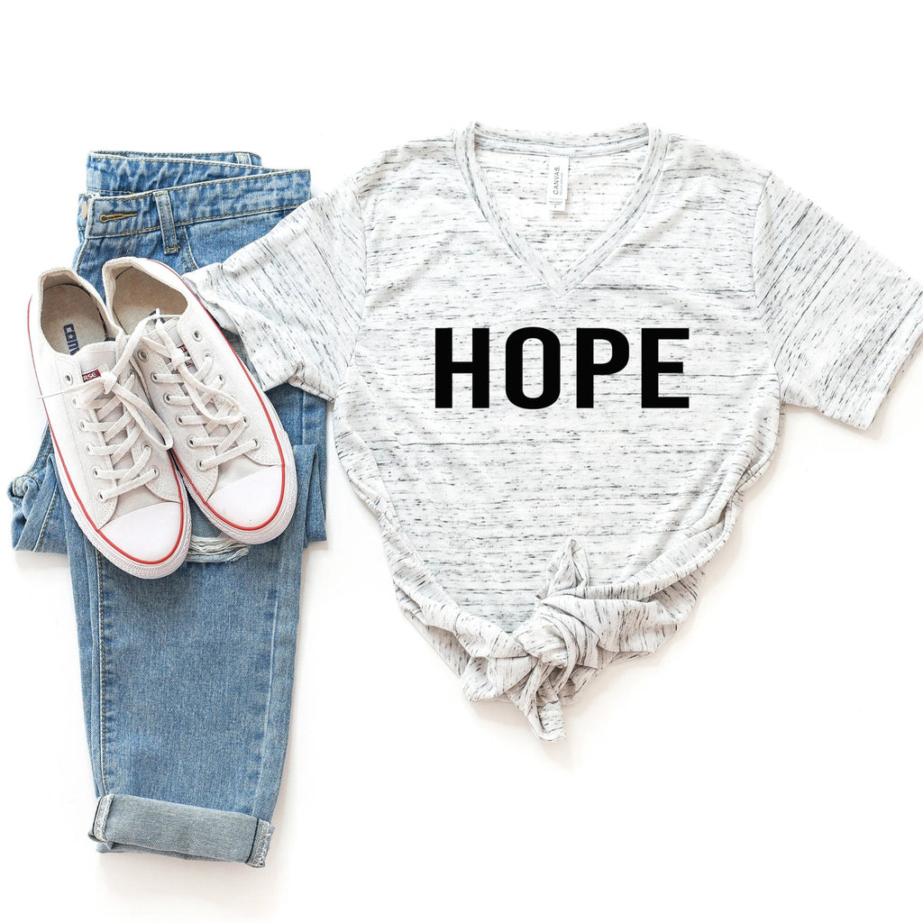 HOPE White Marble Short Sleeve T-Shirt