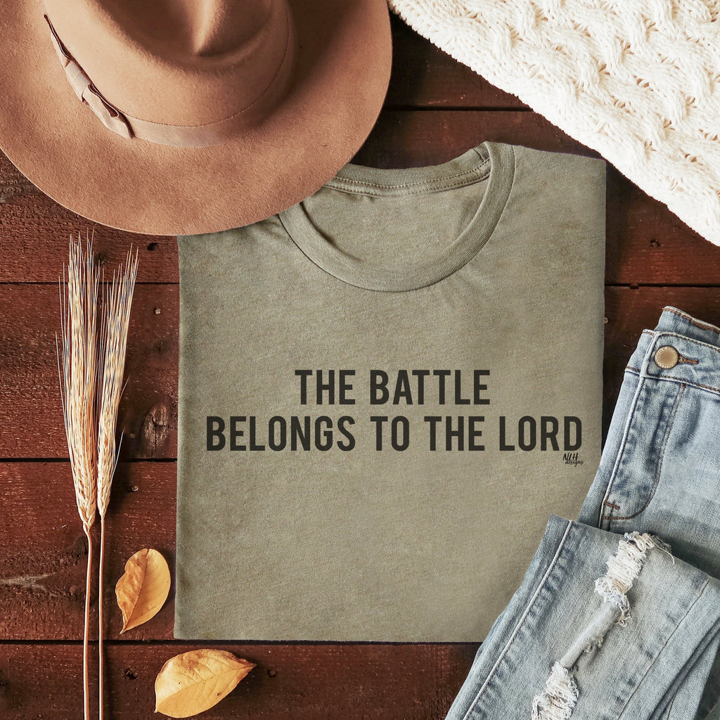 The Battle Belongs To The Lord Short Sleeve T-Shirt