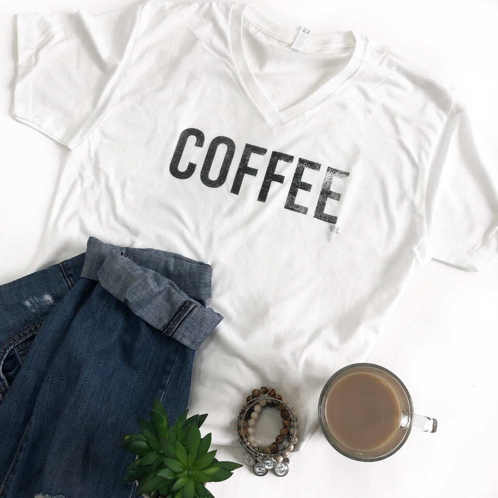COFFEE Short Sleeve T-Shirt - White