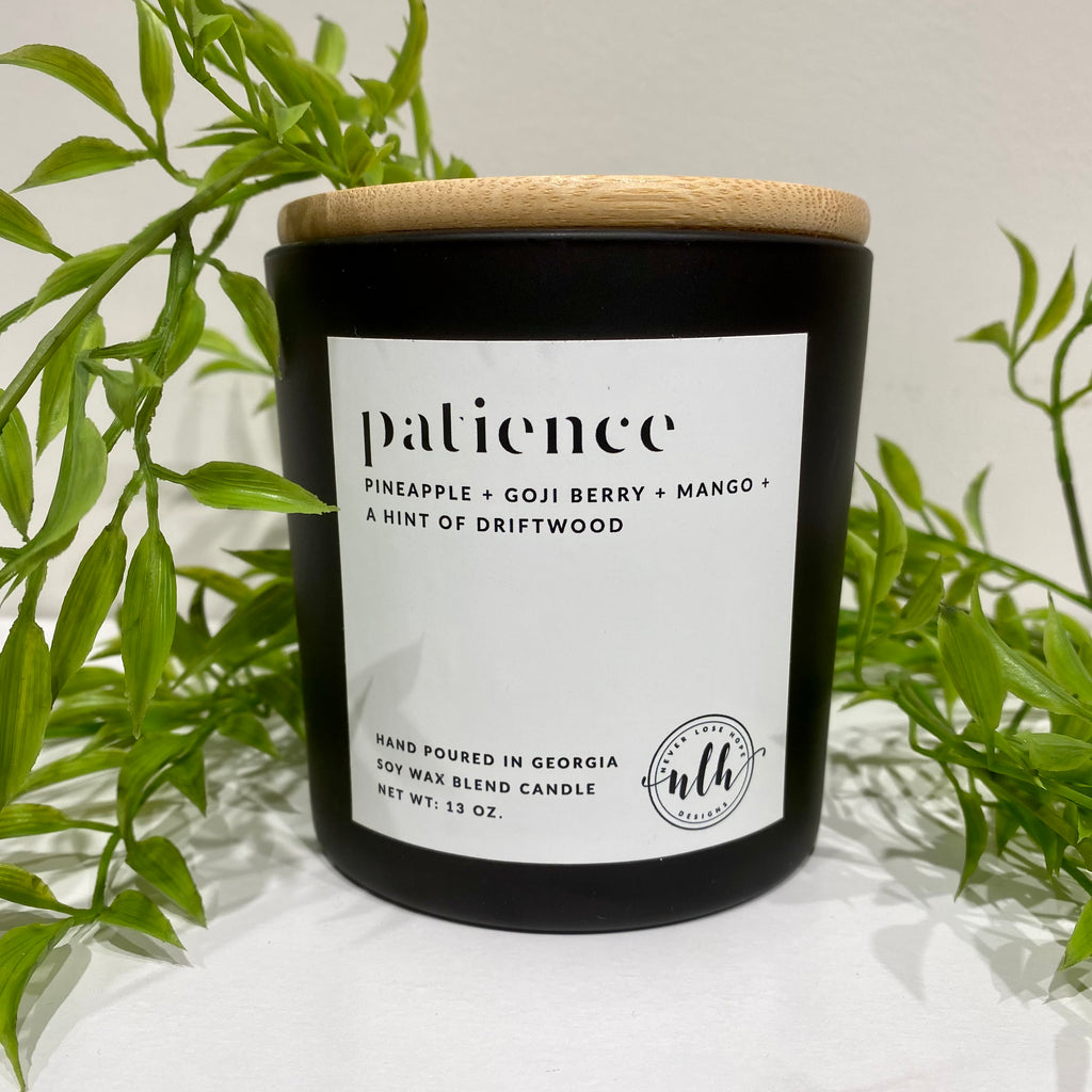 """PATIENCE"" soy wax blend candle (pack of 4)"