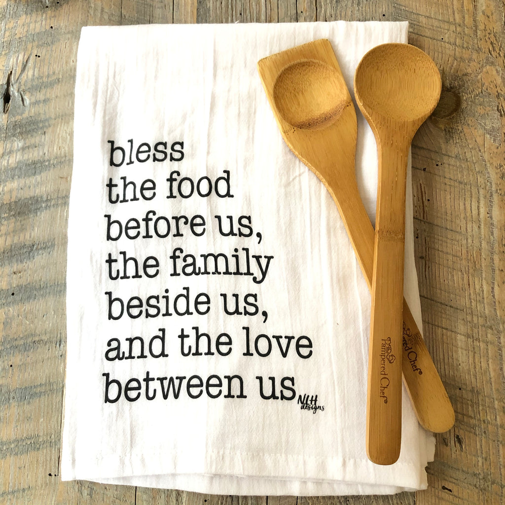 Bless the Food Tea Towel - 6 pack
