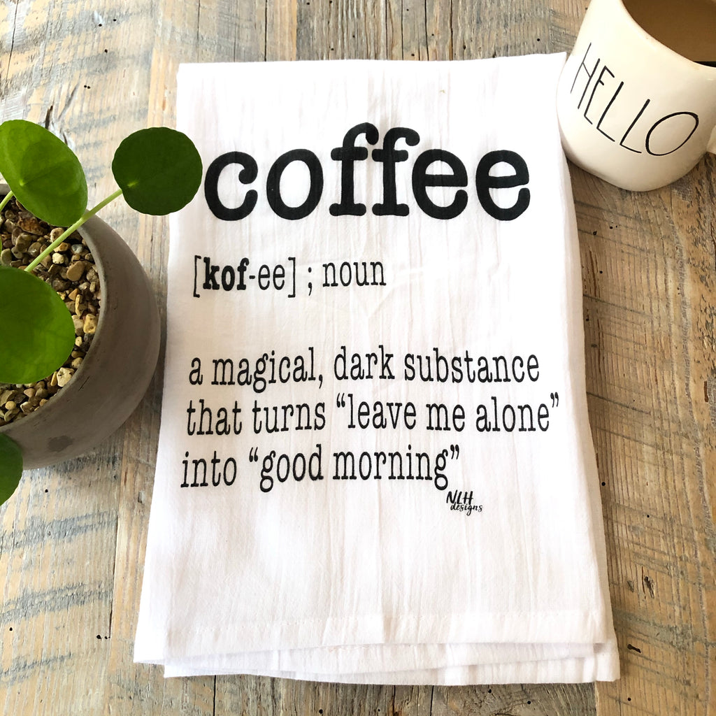 Coffee Tea Towel - 6 pack