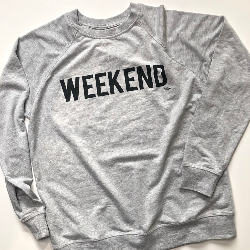 WEEKEND French Terry Raglan Crew Long Sleeve