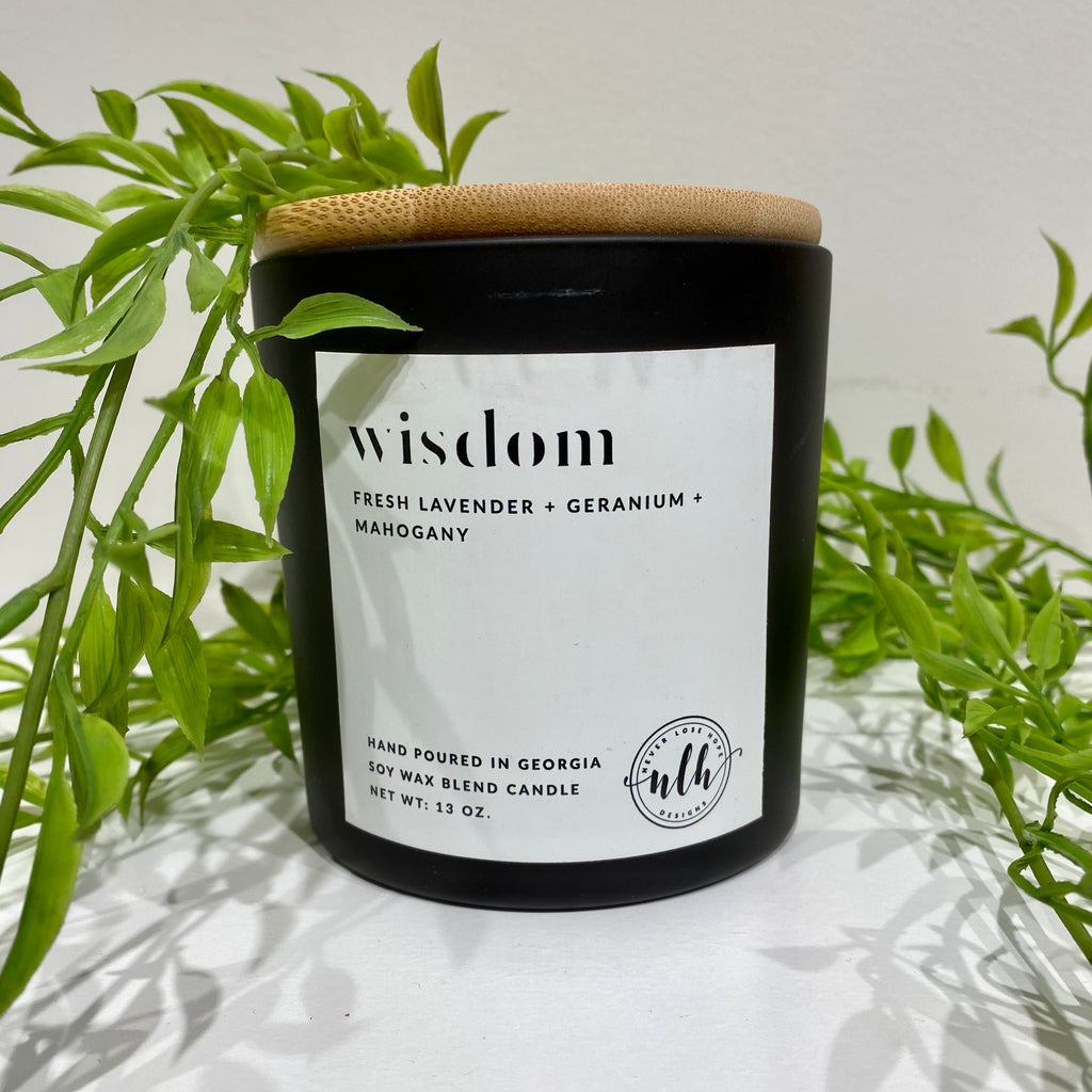 """WISDOM"" soy wax blend candle (pack of 4)"