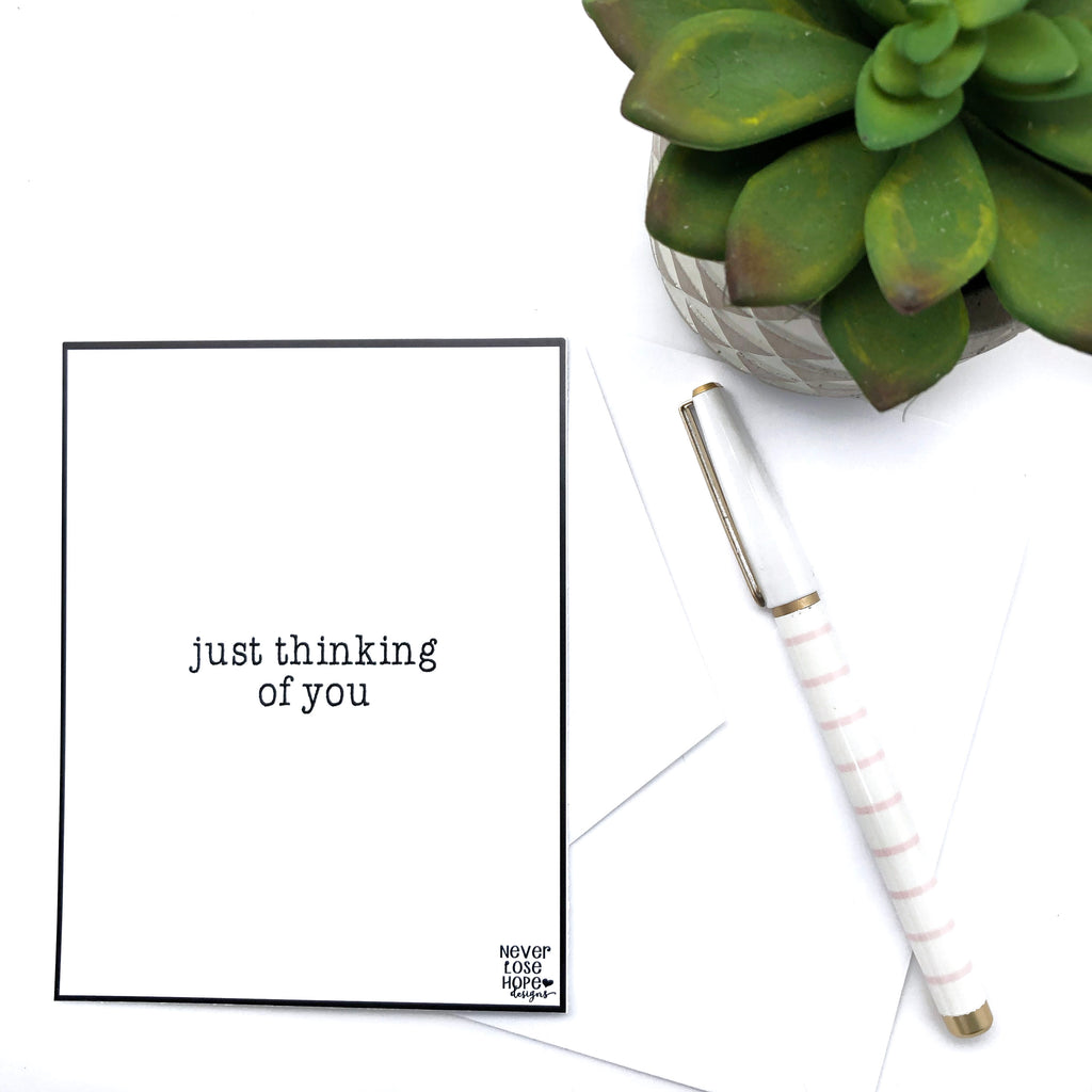 Just thinking of you Notecard