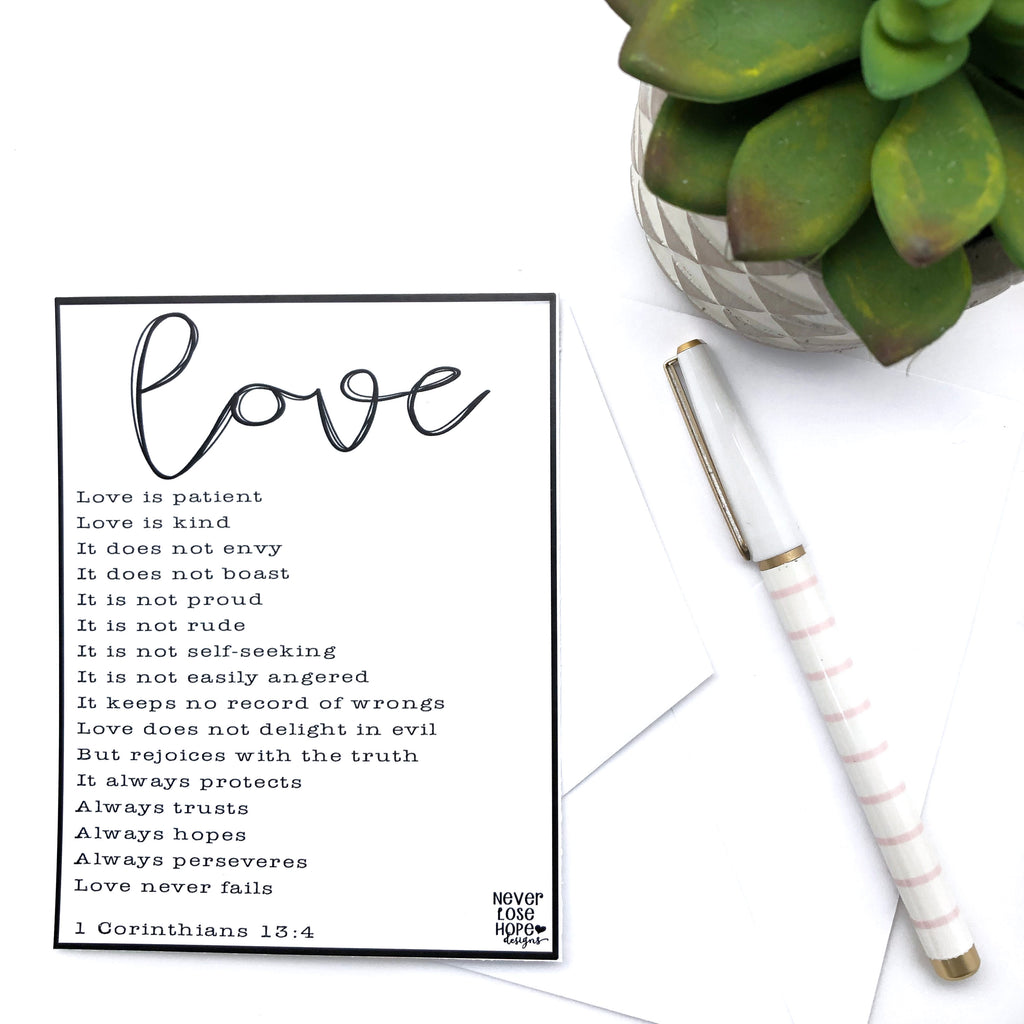 Love is Patient Love is Kind Notecard