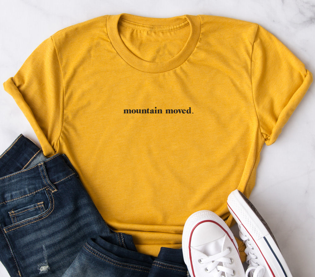 Mountain Moved Mustard Short Sleeve T-Shirt