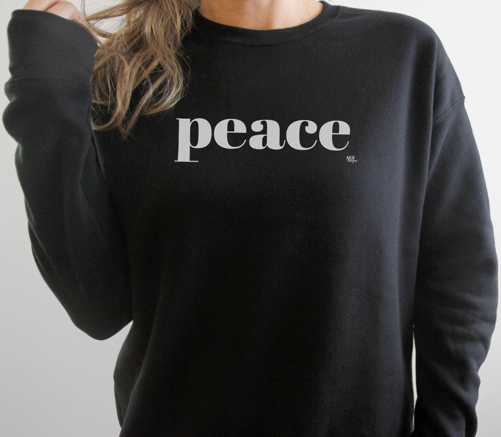 Peace Long Sleeve Black Sweatshirt