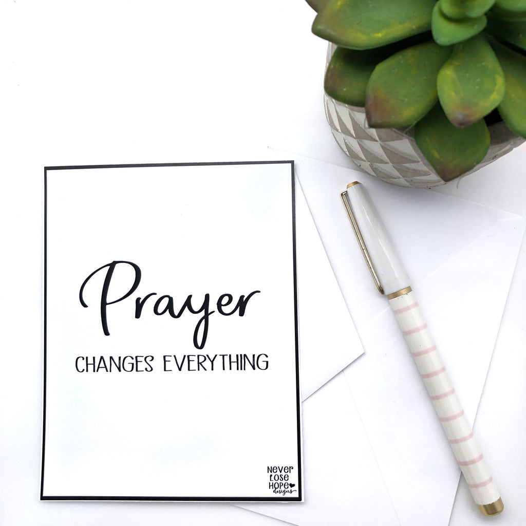 Prayer Changes Everything Notecard