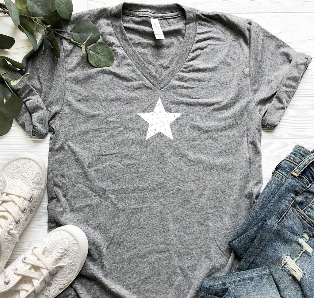 Star Short Sleeve T-Shirt Gray