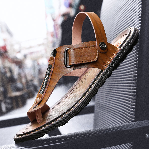 f7e3a59d5 Sandals - Fashion Summer Casual Breathable Outdoor Leather Sandals Flip- flops