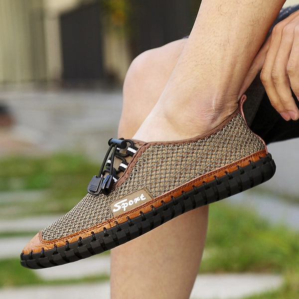 3e7d6f33d Men fashion summer slippers flip flops — Sale price  29.95 USD · 2019 Fashion  Men Breathable Handmade Soft Slip-On Loafers(Extra Discount:Buy 2