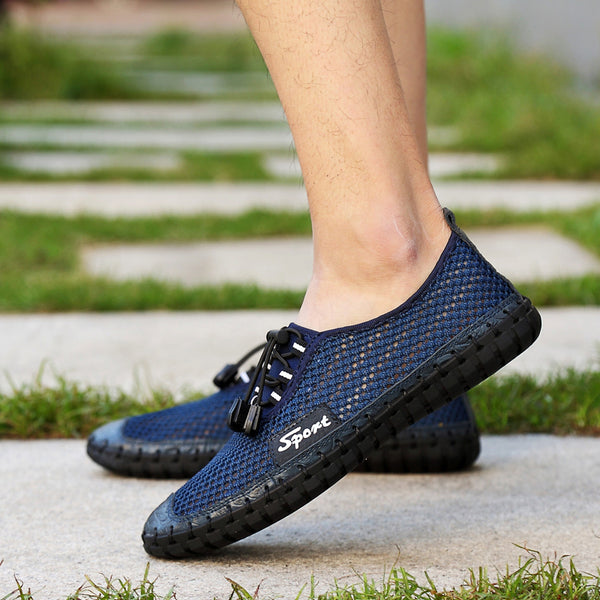 2019 New Men Breathable Solid Lace Up Water Shoes