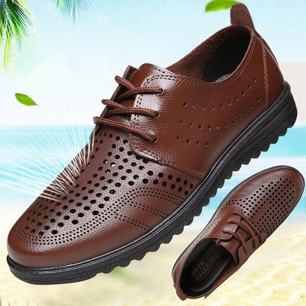 Men Summer Flat Casual leather Sandals