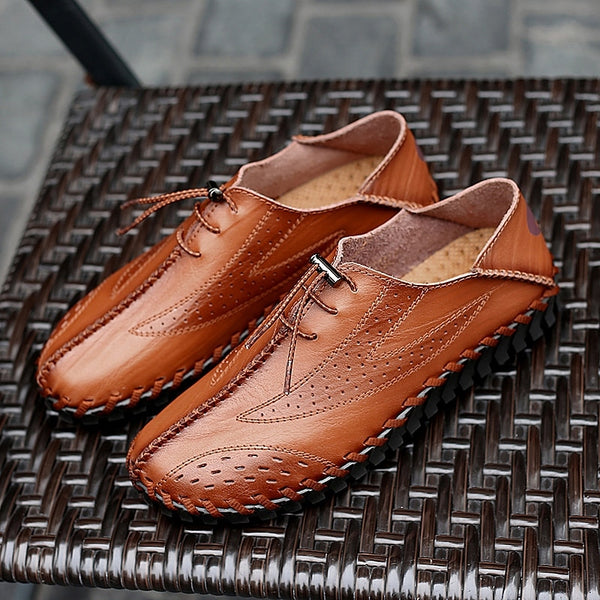 Men's Driving Shoes Breathable Genuine Leather Loafers