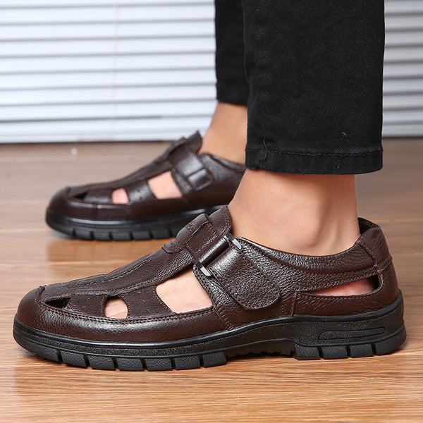 620a1abdb Men Genuine Leather New Fashion Comfortable Leather Sandals – Luckbob