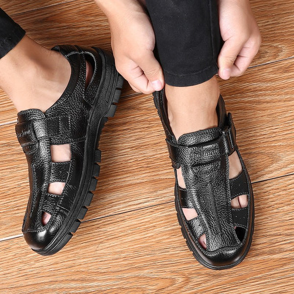 Men Genuine Leather New Fashion Comfortable Leather Sandals