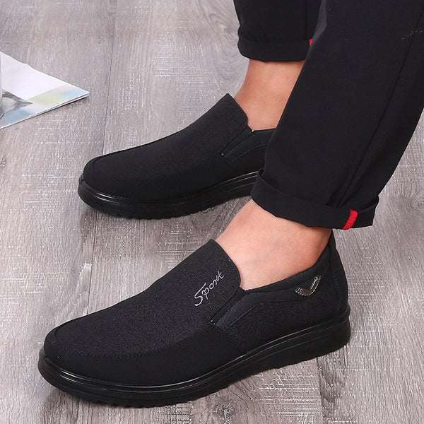 2019 Men Breathable Slip-on Cotton Fabric Flats