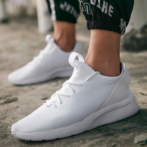 2019 Breathable Super Light Comfy Basic Mesh Lace Up Shoes